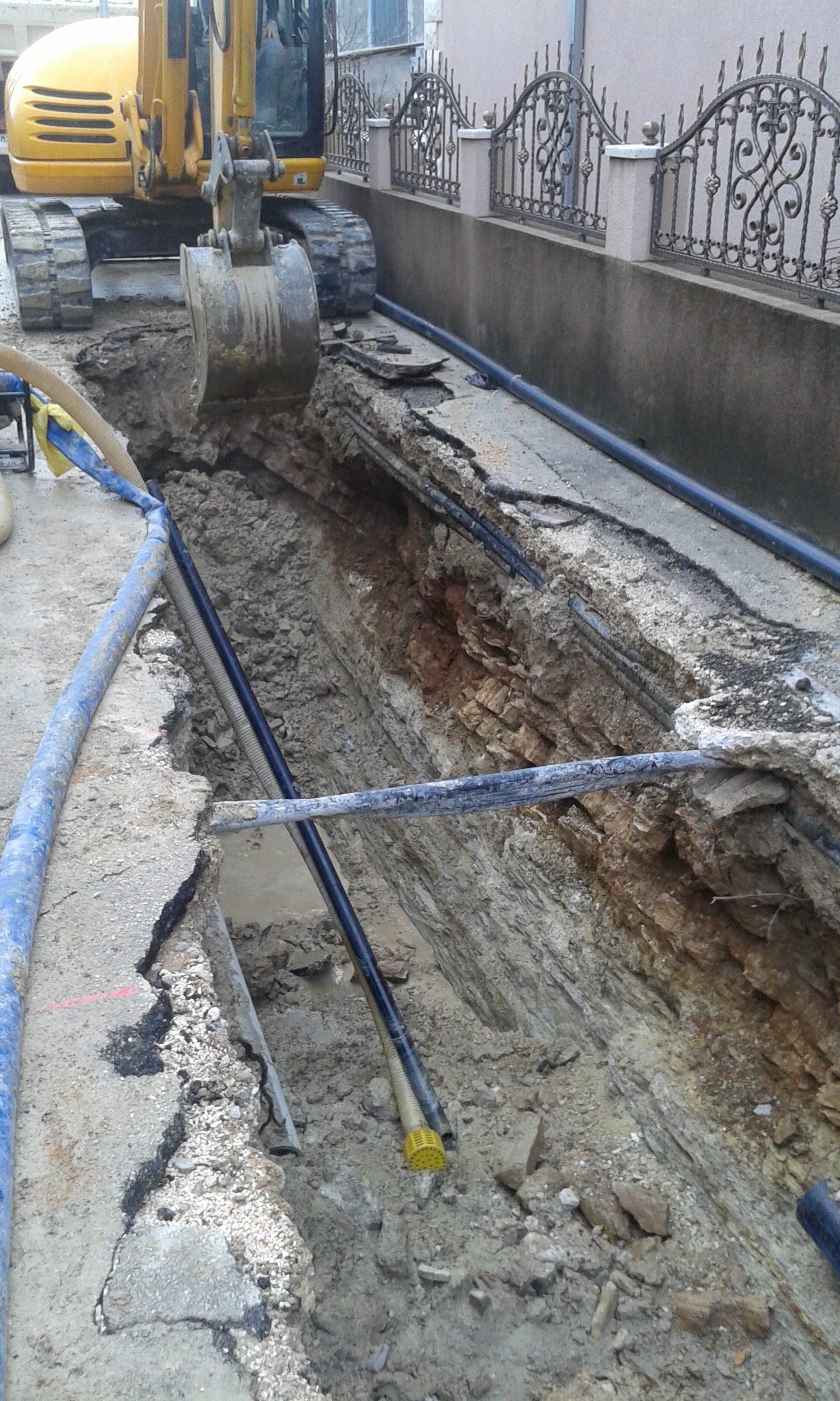 Fekalna kanalizacija i rekonstrukcija vodovoda u ulici Bunje, Solin